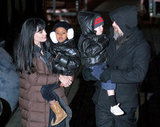 In December 2009, Angelina Jolie and Brad Pitt took daughters Zahara and Shiloh around NYC.