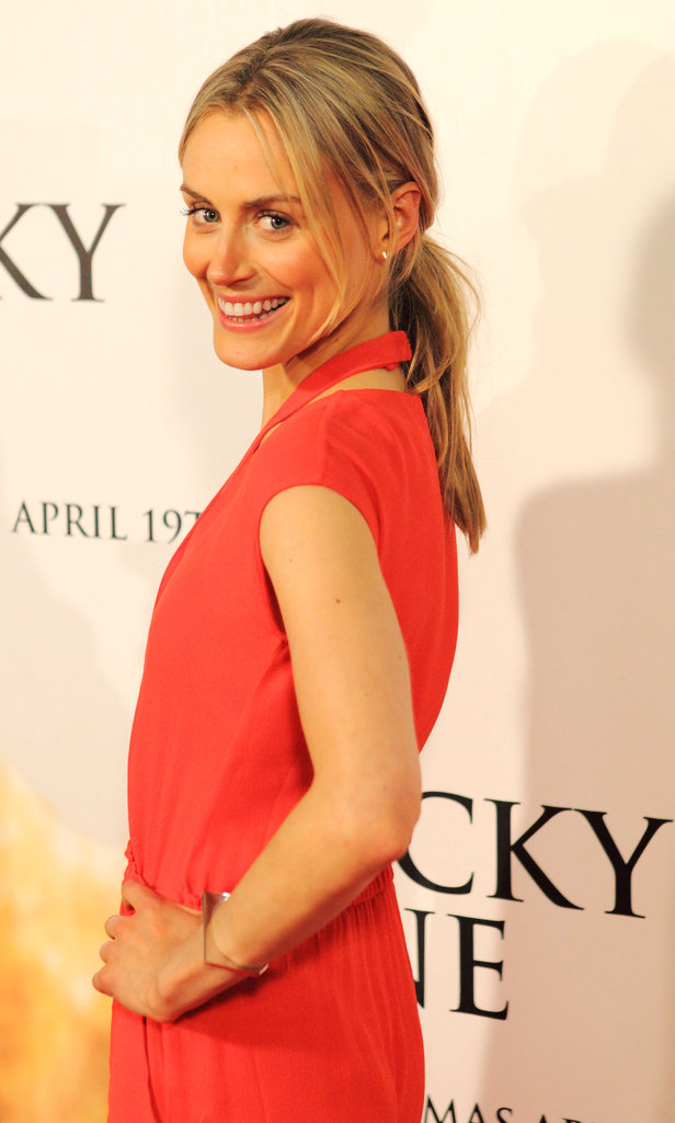 Taylor Schilling wore a bright red jumpsuit for the Australian event.