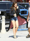 Emma Watson hung out on the set of The Bling Ring in Venice.