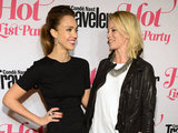 Jessica Alba and Amy Smart chatted it up at the Condé Nast Traveler Hot List Party in LA.