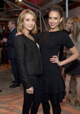 Emma Roberts linked up with Jessica Alba at the Condé Nast Traveler Hot List Party in LA.