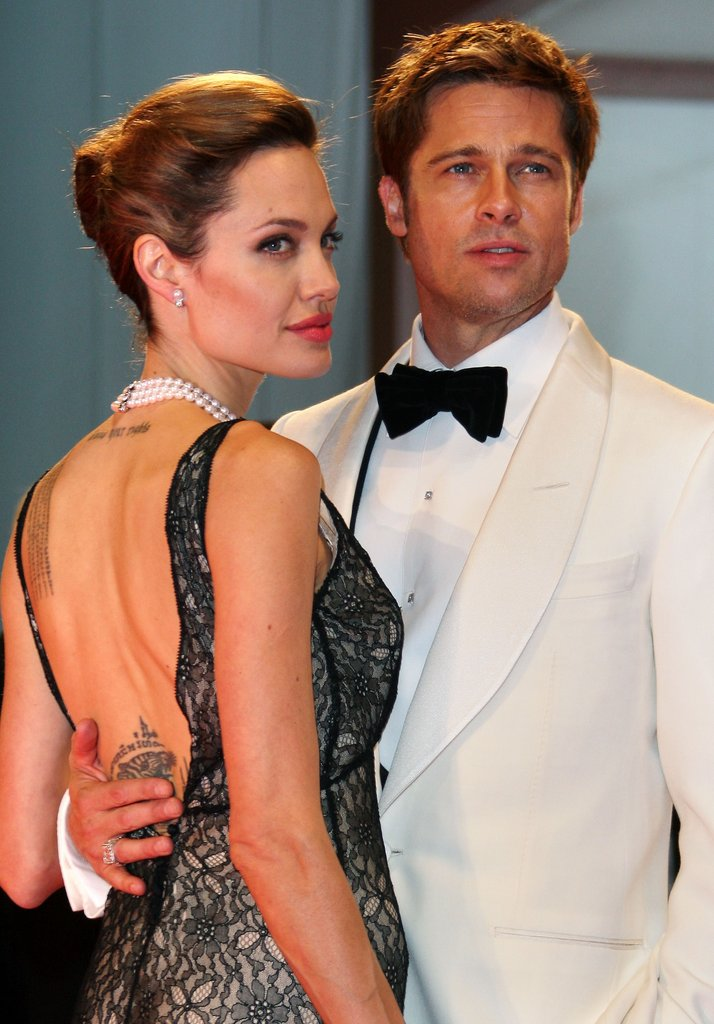 Angelina Jolie 2007 bei der Premiere von Brad Pitt The Assassination of Jesse James at auf dem Filmfestival in Venedig.