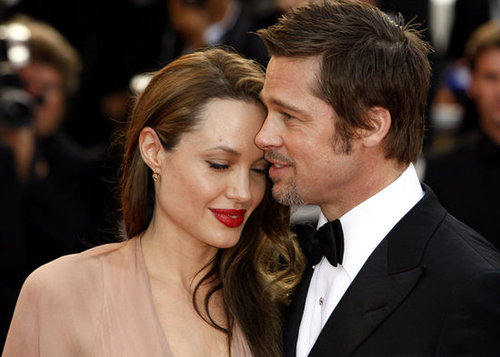 Angelina Jolie cozied up to Brad Pitt at the 2009 Cannes Film Festival.