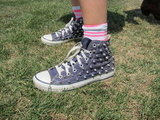 We love the edgier feel of studs on a pair of old-school Chucks.
