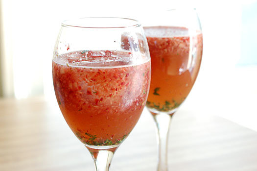 Strawberry Balsamic Basil Spritzer