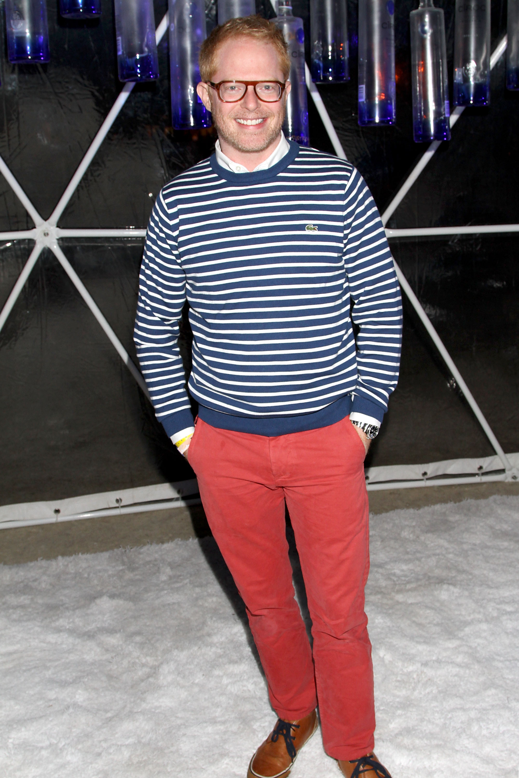 Jesse Tyler Ferguson brought his stripes to GenArt's Coachella party in 2012.