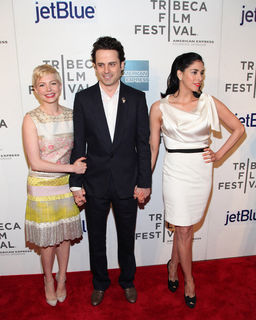 Michelle Williams, Luke Kirby and Sarah Silverman posed together at the Tribeca Film Festival.