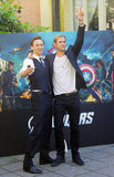 Tom Hiddleston and Chris Hemsworth joked around.