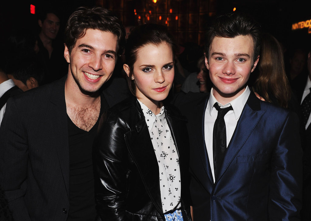 Chris Colfer and Emma Watson posed together for a photo at an after party.