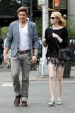 Emma Stone hung out with a male friend in NYC.