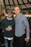 Chris Pine and Damon Lindelof posed together for a photo inside the event.