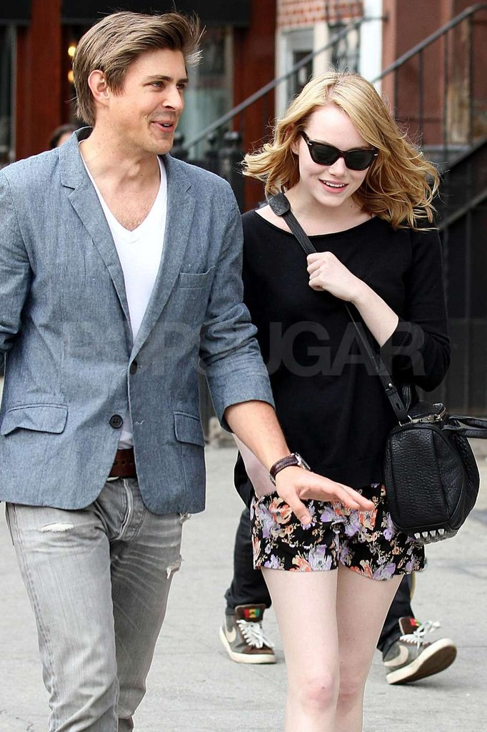 Emma Stone strolled with a friend in NYC.