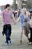 Diane Kruger and Joshua Jackson held hands at Coachella.