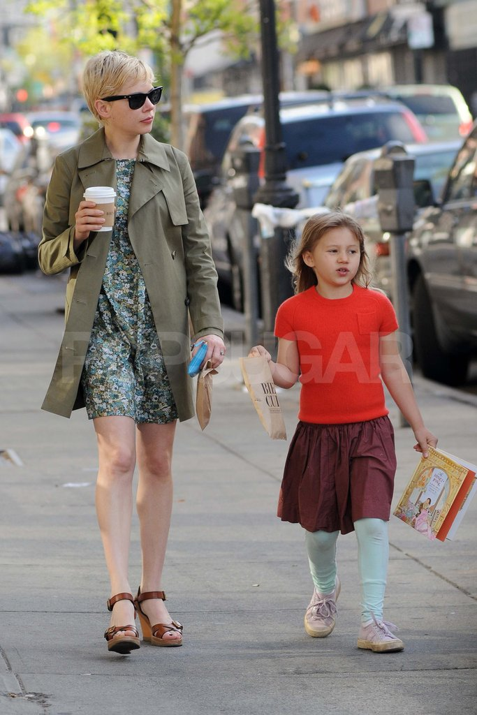 Michelle Williams and Matilda ran errands in Brooklyn.