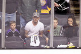 David Beckham and Victoria Beckham took their sons to a playoff hockey game in LA.