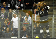 The Beckham and the Bryant Families attend the Los Angeles Kings vs. Vancouver Canucks NHL playoff game