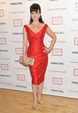 Carla Gugino posed at the 2012 Tribeca Ball in NYC.