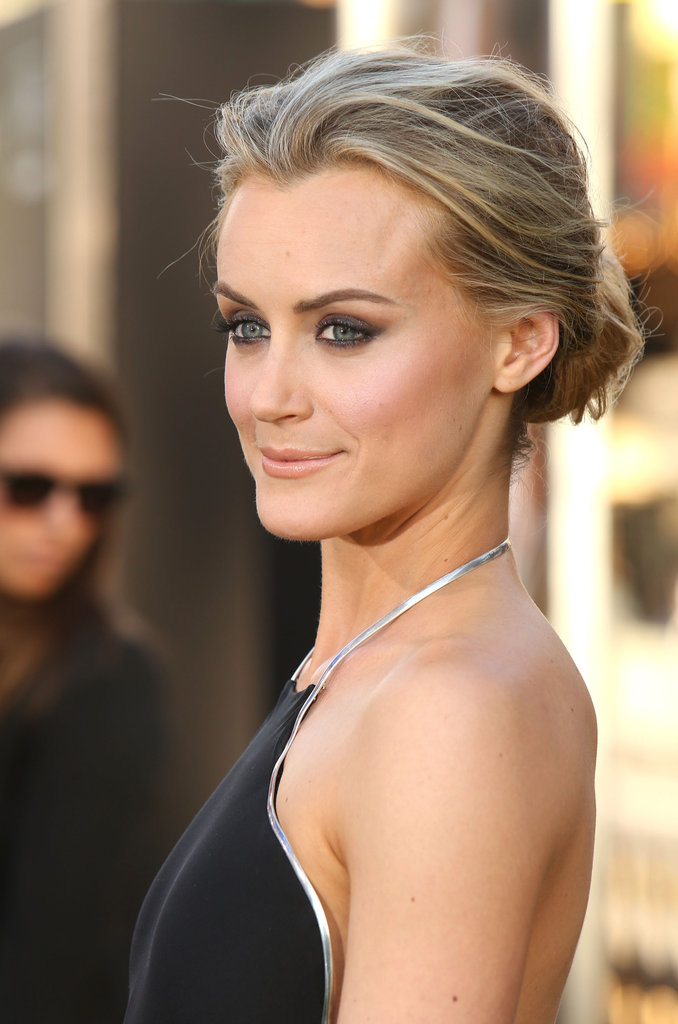 Taylor Schilling wore a chignon to The Lucky One premiere in LA.