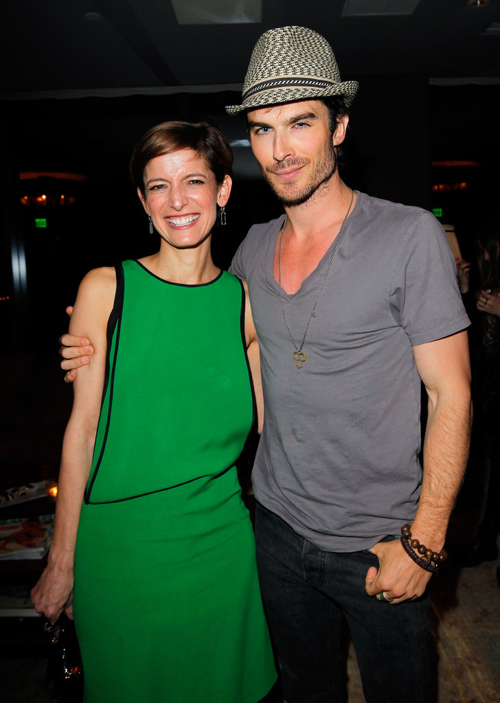 Ian Somerhalder and Cindi Leive hung out at Glamour magazine's party in West Hollywood.