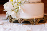 Ornate Golden Cake Stand