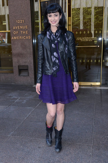 Leather: Krysten Ritter