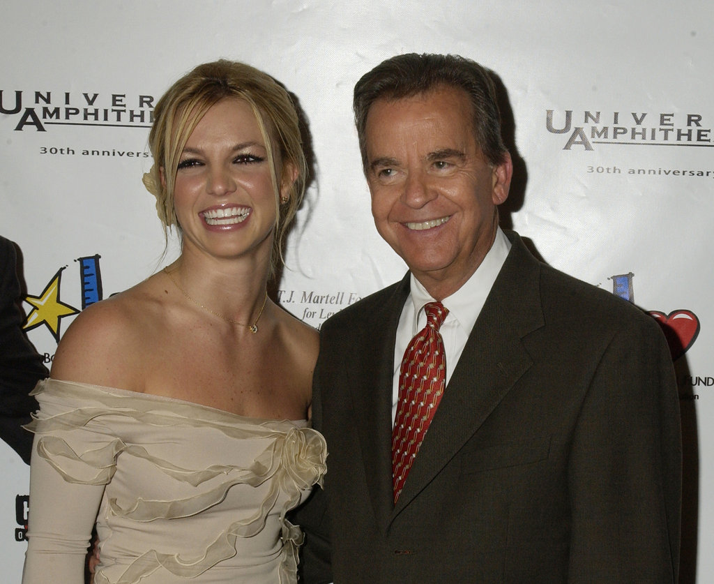 Dick Clark and Britney Spears posed together in November 2002.