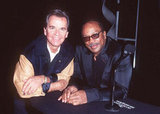 Quincy Jones and Dick Clark caught up backstage at the January 1997 American Music Awards.
