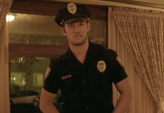 Alex Pettyfer looks good in uniform.