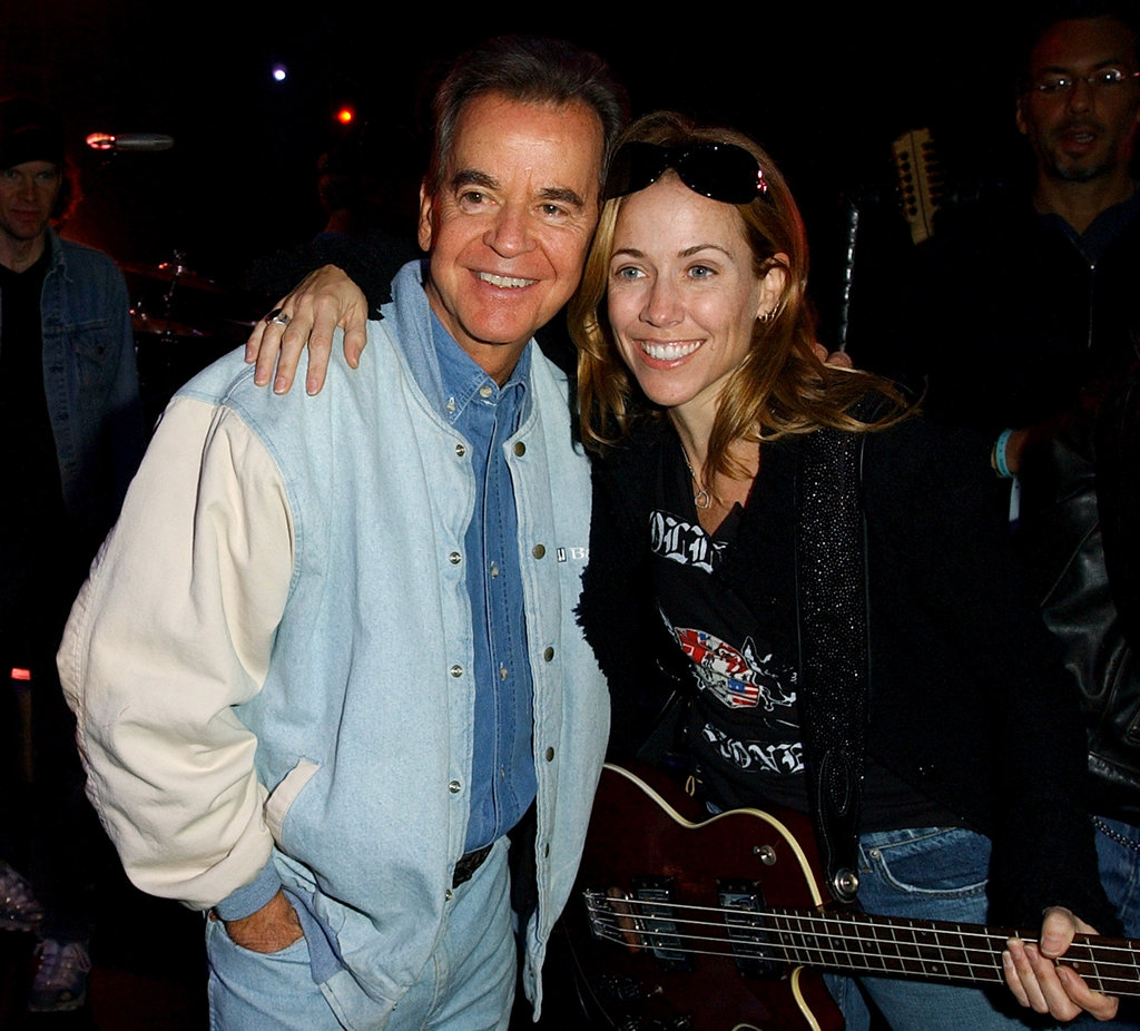 Sheryl Crow shared a sweet moment with Dick Clark while rehearsing for the November 2003 American Music Awards.