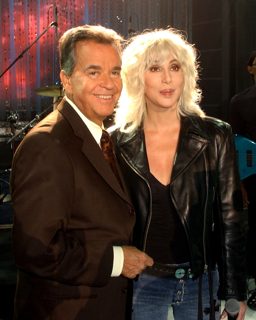 Cher had the honor of working with Dick Clark in 2002.
