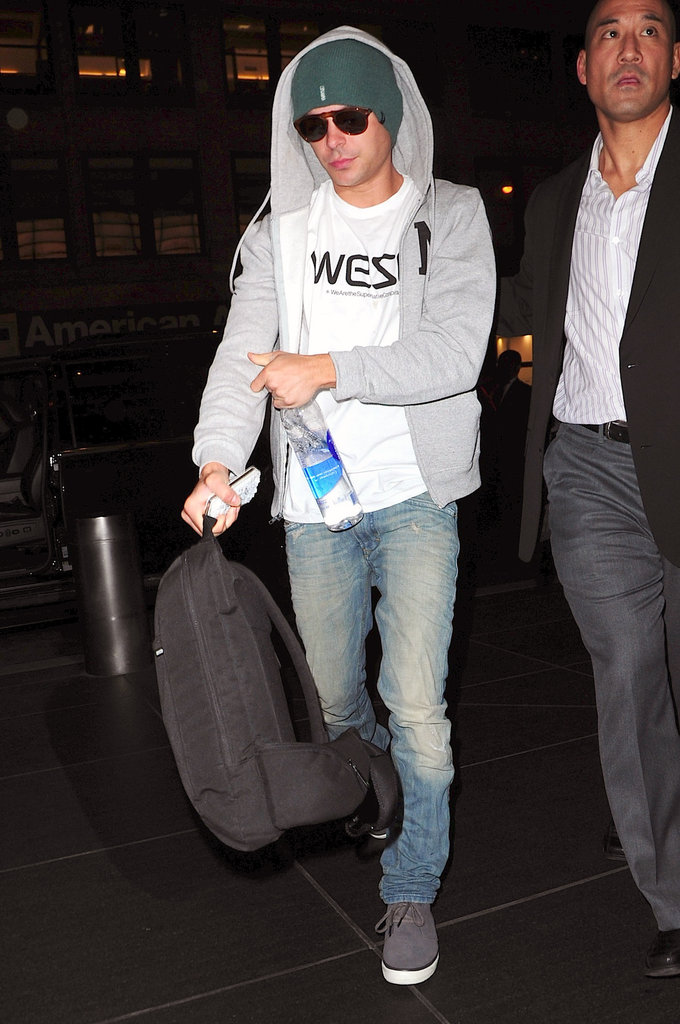 Zac Efron departed out of LAX.
