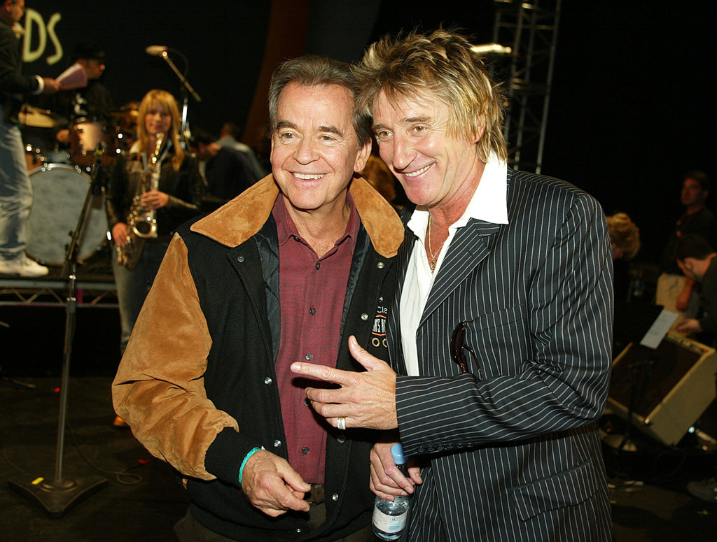 Dick Clark and Rod Stewart had a chance to take a picture in November 2003 at the American Music Awards.