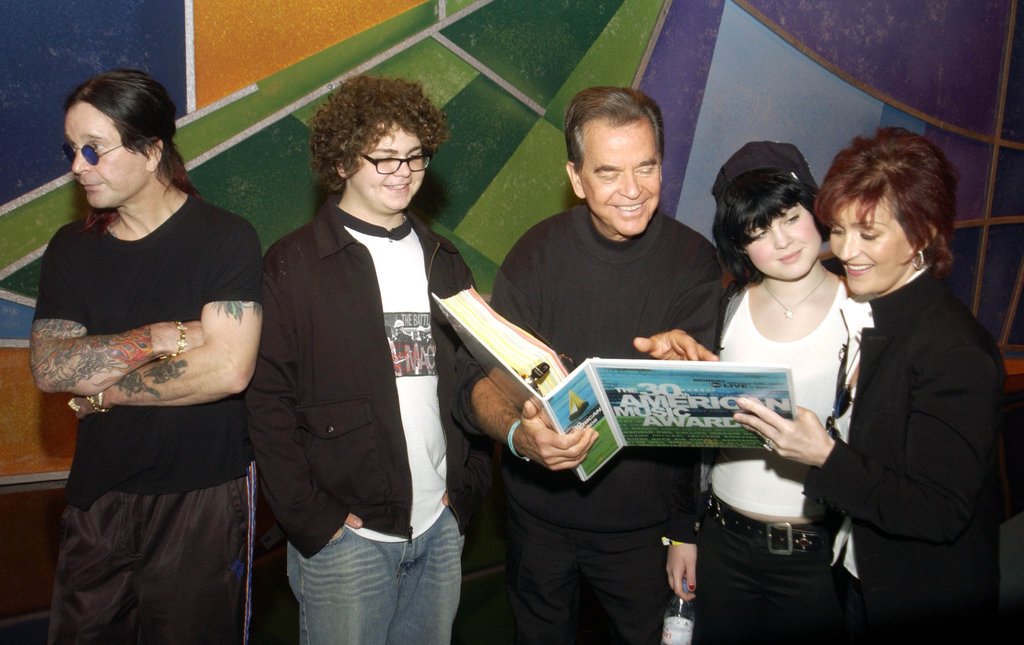 In January 2003, Dick Clark and the Osbourne family, Ozzy Osbourne, Jack Osbourne, Kelly Osbourne, and Sharon Osbourne, met in LA.