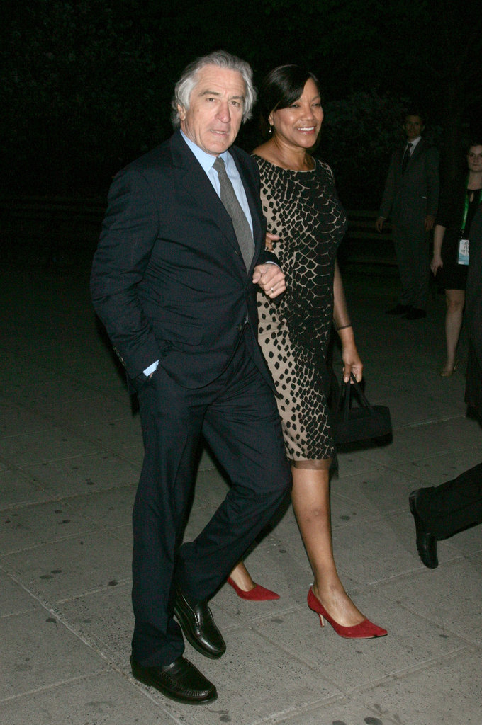 Robert De Niro led wife Grace Hightower into the Vanity Fair Party.