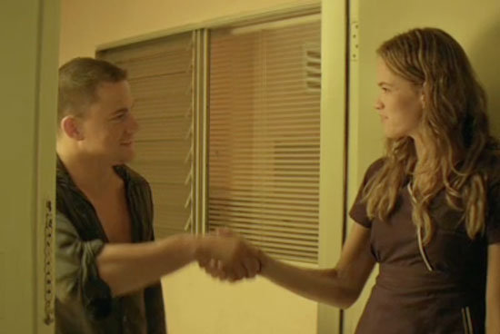 Channing Tatum introduces himself to his love interest in the film played by Cody Horn.