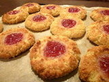 Coconut &amp; Almond Thumbprint Cookies