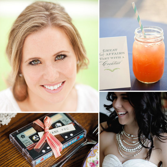 "10 DIYs to Do With Your Bridesmaids Wedding expert Abby Larson, editor and founder of Style Me Pretty, knows the ins and outs of what makes a fabulous big day. And she's sharing her expertise with us this wedding season with a series of articles on tips and tricks for tying the knot. First, she helped us out with advice on recycling your wedding, and then last week she gave ideas for wedding favors that give back. Now Abby shares projects to get your bridesmaids in on the DIY fun minus the stress. ""Tedious tasks give being a bridesmaid a bad rap, so I thought of a few ways to make those to-dos a bit more fabulous,"" says Abby. ""Think bubbly, PJs, and lots of inside jokes — with a few DIYs that will dazzle on the side."" Check out her bonding project ideas now!"