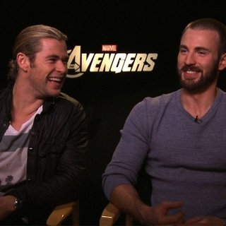 Chris Hemsworth Chris Evans Avengers Interview (Video)