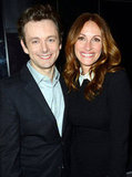 Michael Sheen and Julia Roberts posed together at the premiere of their film Jesus Henry Christ.