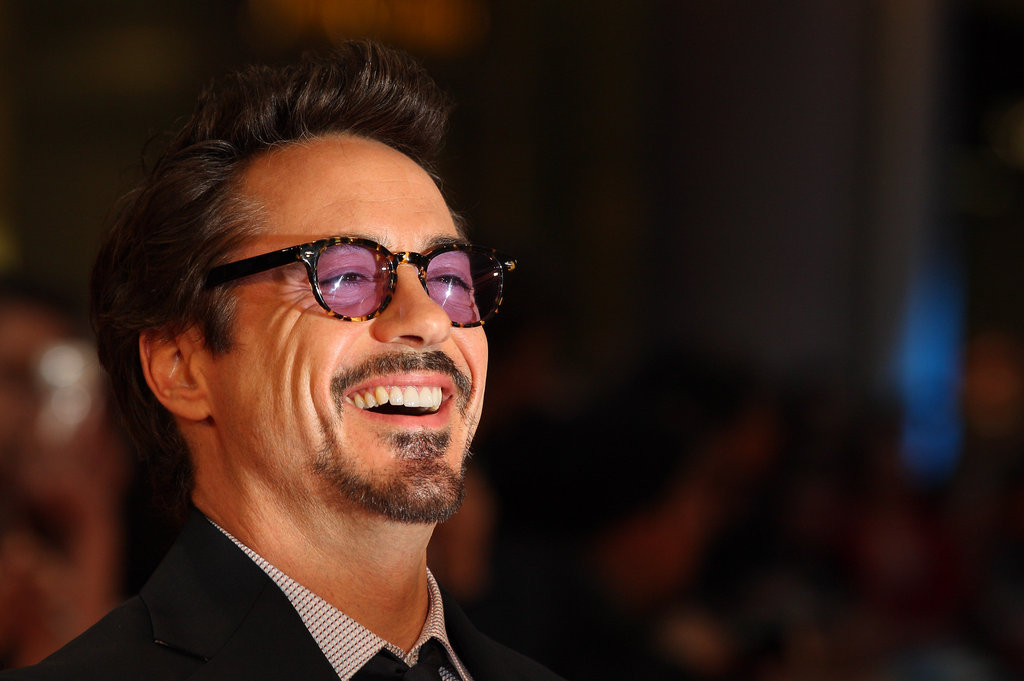 Robert Downey Jr. had a laugh at the premiere of The Avengers in London.