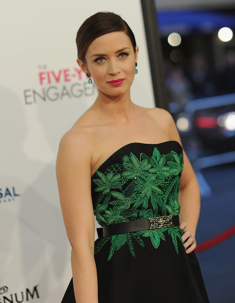 Emily Blunt attended the Five-Year Engagement premiere during the 2012 Tribeca Film Festival.