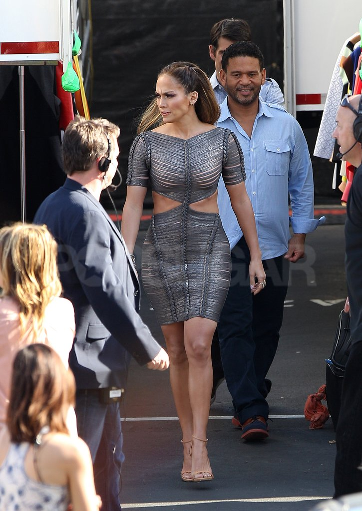 Jennifer Lopez left her trailer in the company of her longtime manager Benny Medina.