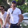 Liam Hemsworth Gofling in LA Pictures