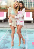 Miranda Kerr promoted the Victoria's Secret 2012 Swim collection with fellow Angel Candice Swanepoel.