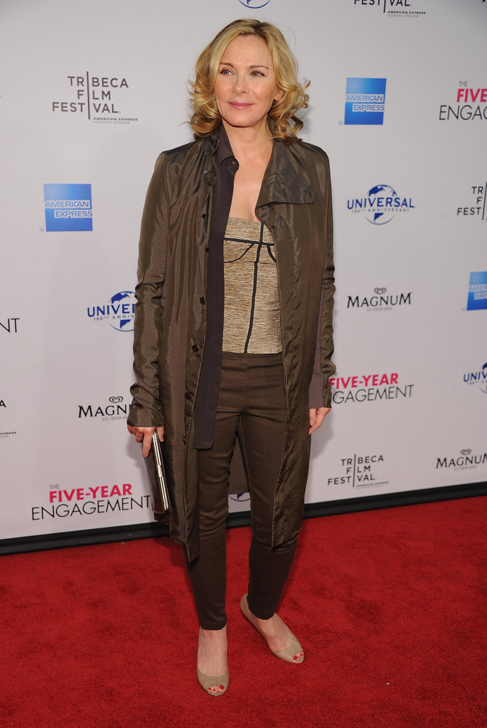 Kim Cattrall attended The Five Year Engagement premiere during the 2012 Tribeca Film Festival.