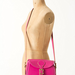 This hot-pink shoulder bag injects a vibrant hue to a classic silhouette.