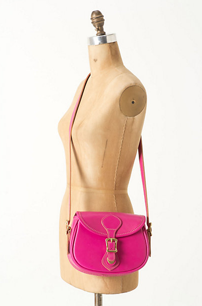 This hot-pink shoulder bag injects a vibrant hue to a classic silhouette. Anthropologie Mini Legacy Shoulder Bag ($358)