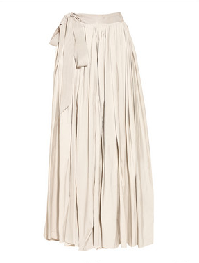 This elegant ivory taffeta maxi featuring a grosgrain ribbon is ideal for fancier occasions. Lanvin Taffeta Maxi Skirt ($4,195)