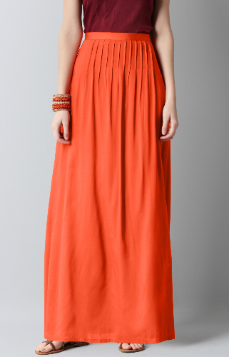 Featuring Pantone's Tangerine color of the year, this flashy maxi shows off beautiful pin-tucked details. Loft Tall Pintucked Maxi Skirt ($70)
