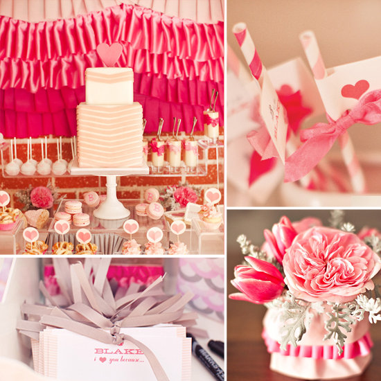 So Sweet in Pink! Ruffles and Ribbon Baby Shower